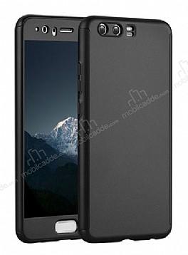 Eiroo Body Fit Huawei P10 360 Derece Koruma Siyah Silikon Kılıf