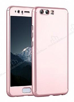Eiroo Body Fit Huawei P10 Plus 360 Derece Koruma Rose Gold Silikon Kılıf
