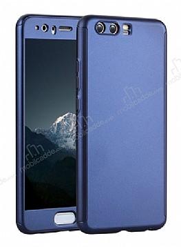 Eiroo Body Fit Huawei P10 Plus 360 Derece Koruma Lacivert Silikon Kılıf