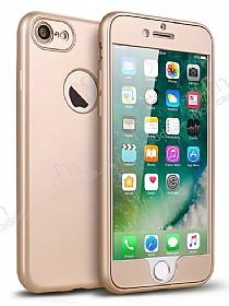 Eiroo Body Fit iPhone 7 360 Derece Koruma Gold Silikon Kılıf