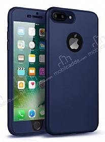 Eiroo Body Fit iPhone 7 Plus 360 Derece Koruma Lacivert Silikon Kılıf