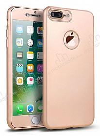 Eiroo Body Fit iPhone 7 Plus 360 Derece Koruma Gold Silikon Kılıf
