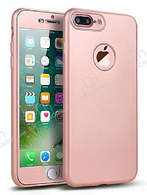 Eiroo Body Fit iPhone 7 Plus 360 Derece Koruma Rose Gold Silikon Kılıf
