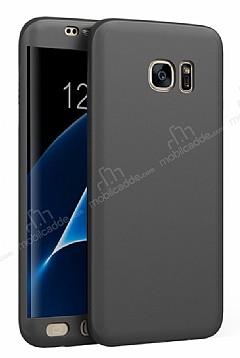 Eiroo Body Fit Samsung Galaxy S7 Edge 360 Derece Koruma Siyah Silikon Kılıf