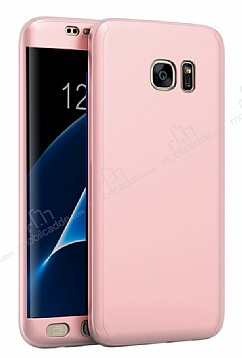 Eiroo Body Fit Samsung Galaxy S7 Edge 360 Derece Koruma Rose Gold Silikon Kılıf