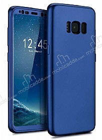 Eiroo Body Fit Samsung Galaxy S8 360 Derece Koruma Lacivert Silikon Kılıf
