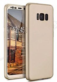 Eiroo Body Fit Samsung Galaxy S8 360 Derece Koruma Gold Silikon Kılıf