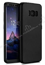 Eiroo Body Fit Samsung Galaxy S8 Plus 360 Derece Koruma Siyah Silikon Kılıf