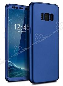 Eiroo Body Fit Samsung Galaxy S8 Plus 360 Derece Koruma Lacivert Silikon Kılıf