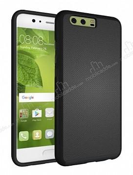 Eiroo Body Thin Huawei P10 Plus 360 Derece Koruma Siyah Rubber Kılıf