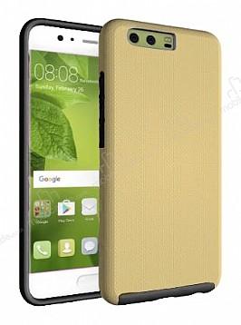 Eiroo Body Thin Huawei P10 Plus 360 Derece Koruma Gold Rubber Kılıf