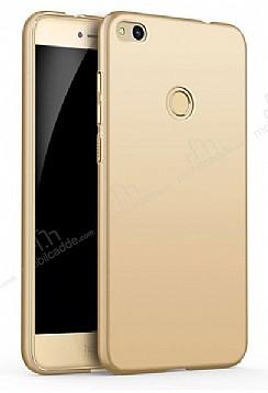 Eiroo Body Thin Huawei P9 Lite 2017 360 Derece Koruma Gold Rubber Kılıf