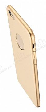 Eiroo Body Thin iPhone 6 Plus / 6S Plus 360 Derece Koruma Gold Rubber Kılıf