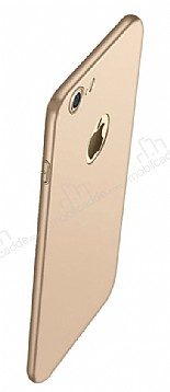Eiroo Body Thin iPhone 7 360 Derece Koruma Gold Rubber Kılıf
