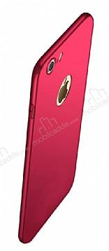 Eiroo Body Thin iPhone 7 360 Derece Koruma Kırmızı Rubber Kılıf