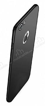 Eiroo Body Thin iPhone 7 360 Derece Koruma Siyah Rubber Kılıf