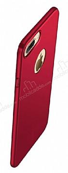 Eiroo Body Thin iPhone 7 Plus 360 Derece Koruma Kırmızı Rubber Kılıf