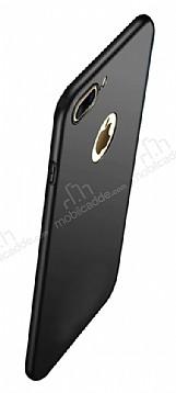 Eiroo Body Thin iPhone 7 Plus / 8 Plus 360 Derece Koruma Siyah Rubber Kılıf