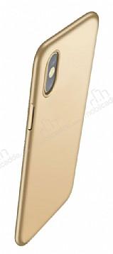 Eiroo Body Thin iPhone X 360 Derece Koruma Gold Rubber Kılıf