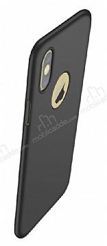 Eiroo Body Thin iPhone X 360 Derece Koruma Siyah Rubber Kılıf