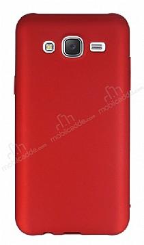 Eiroo Body Thin Samsung Galaxy J7 2016 360 Derece Koruma Kırmızı Rubber Kılıf