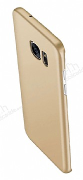 Eiroo Body Thin Samsung Galaxy S6 Edge 360 Derece Koruma Gold Rubber Kılıf