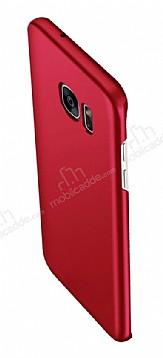 Eiroo Body Thin Samsung Galaxy S6 Edge 360 Derece Koruma Kırmızı Rubber Kılıf