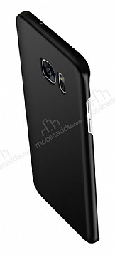 Eiroo Body Thin Samsung Galaxy S7 Edge 360 Derece Koruma Siyah Rubber Kılıf