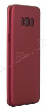 Eiroo Body Thin Samsung Galaxy S8 360 Derece Koruma Kırmızı Rubber Kılıf