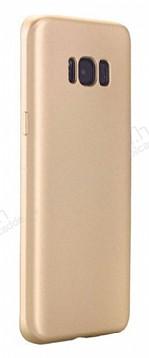Eiroo Body Thin Samsung Galaxy S8 360 Derece Koruma Gold Rubber Kılıf
