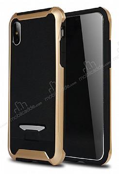 Eiroo Bumblebe iPhone X Ultra Koruma Gold Kılıf
