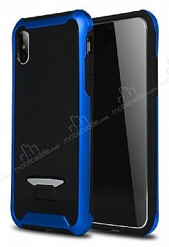 Eiroo Bumblebe iPhone X Ultra Koruma Lacivert Kılıf