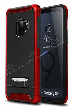 Eiroo Bumblebe Samsung Galaxy S9 Plus Ultra Koruma Kırmızı Kılıf