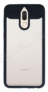 Eiroo Cam Hybrid Huawei Mate 10 Lite Kamera Korumalı Siyah Kenarlı Rubber Kılıf