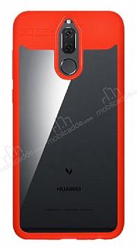Eiroo Cam Hybrid Huawei Mate 10 Lite Kamera Korumalı Kırmızı Kenarlı Rubber Kılıf