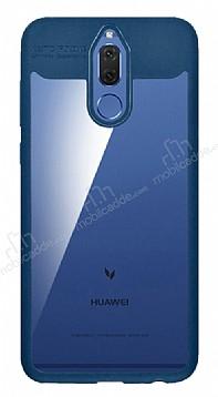 Eiroo Cam Hybrid Huawei Mate 10 Lite Kamera Korumalı Lacivert Kenarlı Rubber Kılıf