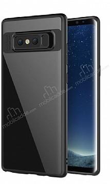 Eiroo Cam Hybrid Samsung Galaxy Note 8 Kamera Korumalı Siyah Kenarlı Rubber Kılıf