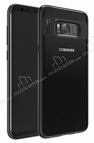 Eiroo Cam Hybrid Samsung Galaxy S8 Plus Kamera Korumalı Siyah Kenarlı Rubber Kılıf