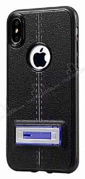 Eiroo Cam Pro iPhone X / XS Standlı Ultra Koruma Lacivert Kılıf