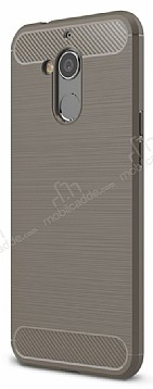 Eiroo Carbon Shield General Mobile GM 8 Ultra Koruma Dark Silver Kılıf