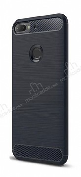 Eiroo Carbon Shield HTC Desire 12 Plus Ultra Koruma Lacivert Kılıf