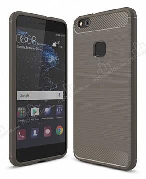 Eiroo Carbon Shield Huawei P10 Lite Ultra Koruma Dark Silver Kılıf