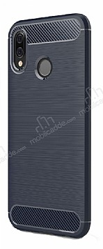 Eiroo Carbon Shield Huawei P20 Lite Ultra Koruma Lacivert Kılıf