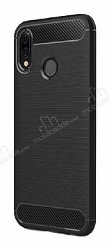 Eiroo Carbon Shield Huawei P20 Lite Ultra Koruma Siyah Kılıf
