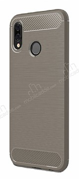 Eiroo Carbon Shield Huawei P20 Lite Ultra Koruma Dark Silver Kılıf