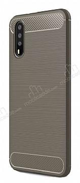 Eiroo Carbon Shield Huawei P20 Pro Ultra Koruma Dark Silver Kılıf