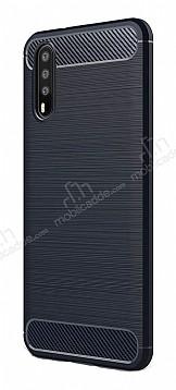 Eiroo Carbon Shield Huawei P20 Pro Ultra Koruma Lacivert Kılıf