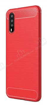 Eiroo Carbon Shield Huawei P20 Pro Ultra Koruma Kırmızı Kılıf