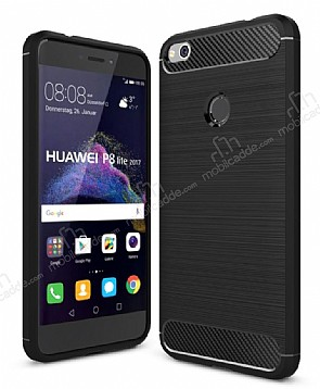 Eiroo Carbon Shield Huawei P9 Lite 2017 Ultra Koruma Siyah Kılıf