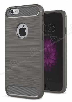 Eiroo Carbon Shield iPhone 6 / 6S Ultra Koruma Dark Silver Kılıf